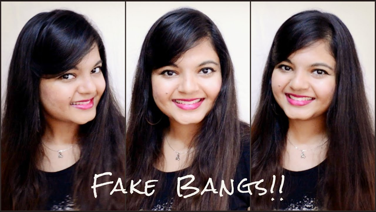 Faux Side Bangs Fringes With open hair