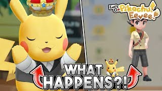 What Happens When You Buy The Crown For Your Starter Pokemon In Let's Go Pikachu & Eevee?
