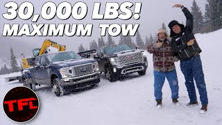 Only One Truck Crushes It! 2020 Ford F350 vs GMC 3500 HD vs The World's Toughest Towing Test!