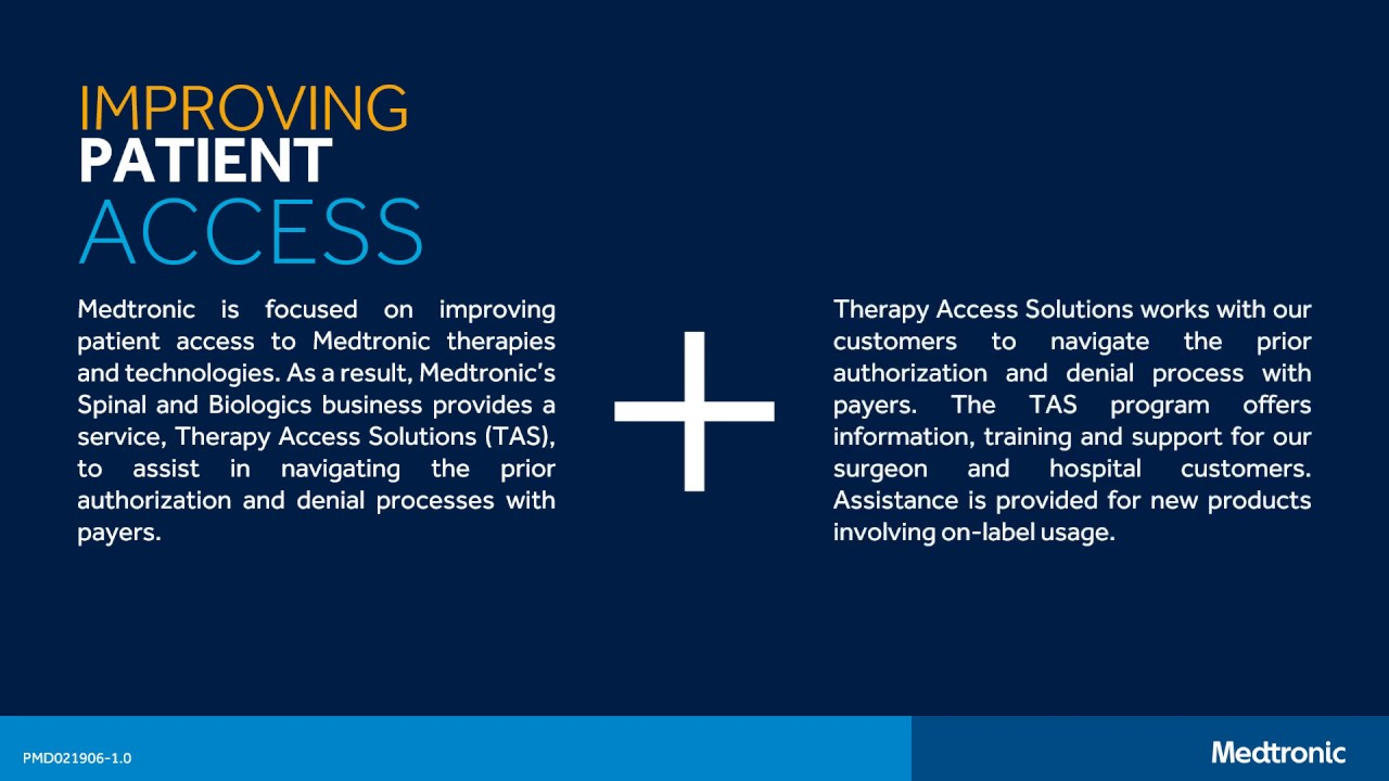 Medtronic: Improving Patient Access to Spine Surgery