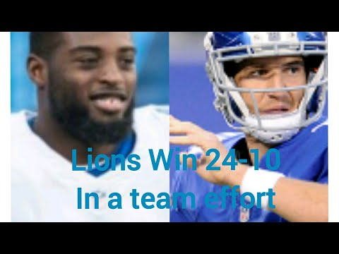 Detroit Lions  Beat New Giants 24-10 The Giants Going To Do What???? Recap