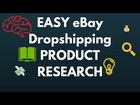 Easy Ebay Dropshipping Product Research Youtube