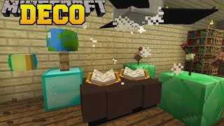 Minecraft: ANIMATED DECORATIONS (CEILING FAN, BOUNCING BALL, & SPINNING GLOBES!) Custom Command