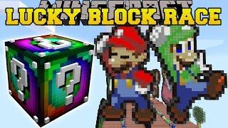 Minecraft: SUPER MARIO LUCKY BLOCK RACE - Lucky Block Mod - Modded Mini-Game