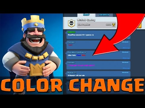 How To Change chat TEXT and NAME Color In Clash Royale