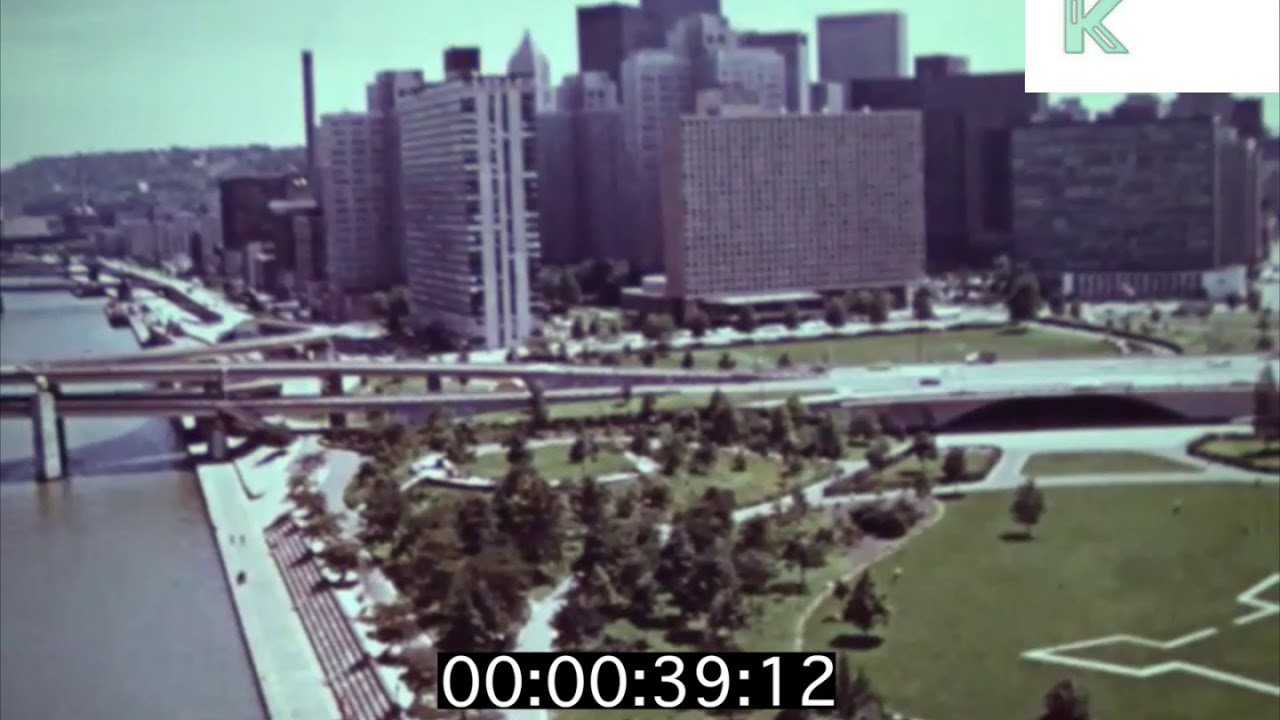 Late 1960s Early 1970s Pittsburgh Aerials City Skyline