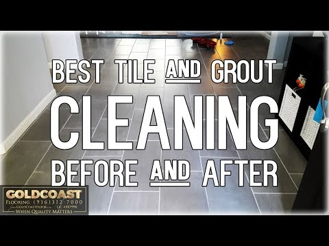 The BEST tile and grout cleaning before and after pics of 2017