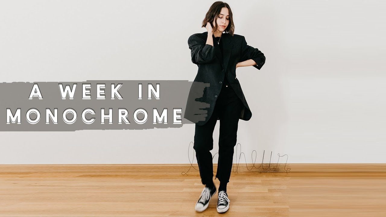 [VIDEO] - A Week In Monochrome Outfits | Fall Outfit Ideas 8