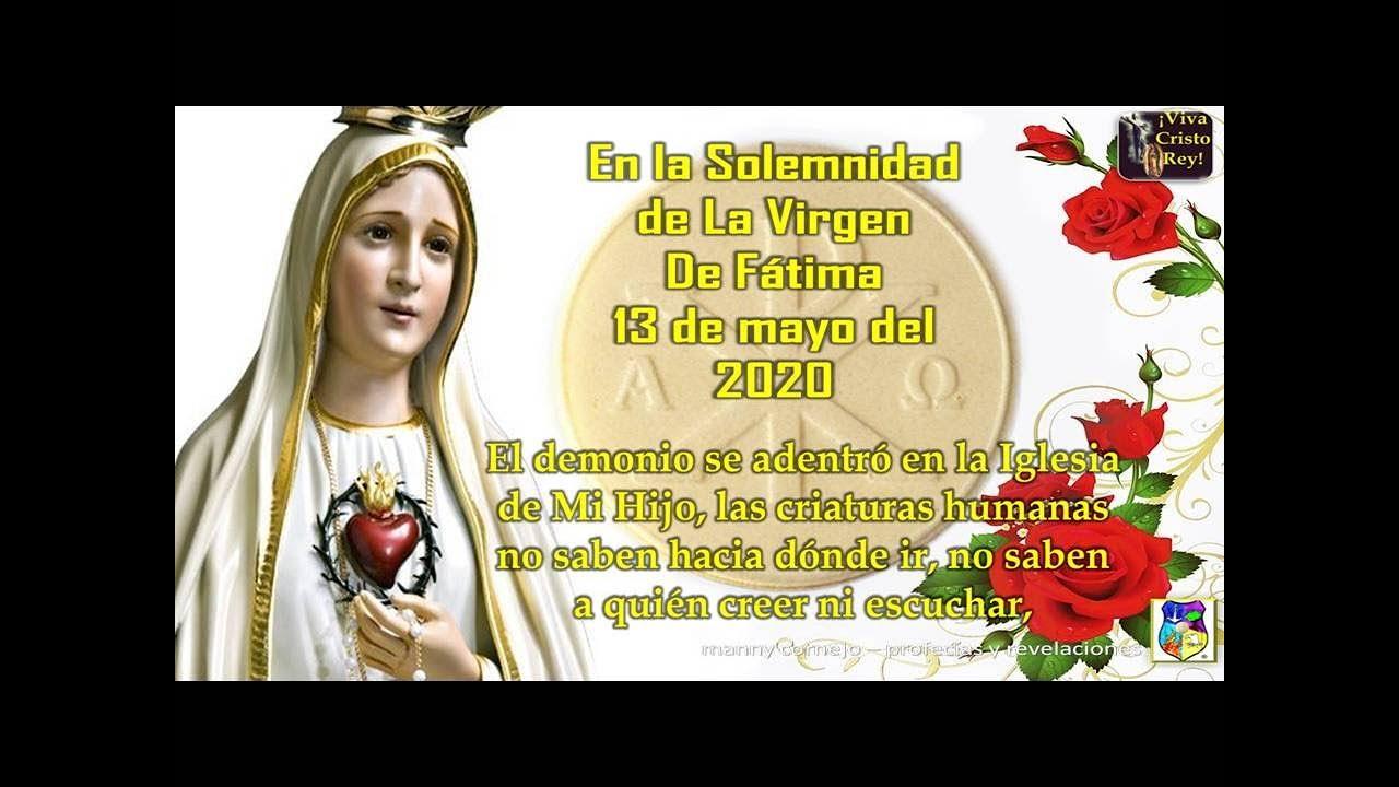 Mensaje Ssma Virgen María a Luz de María 13/05/20 Oren por la Iglesia de Mi Hijo, es estremecida.