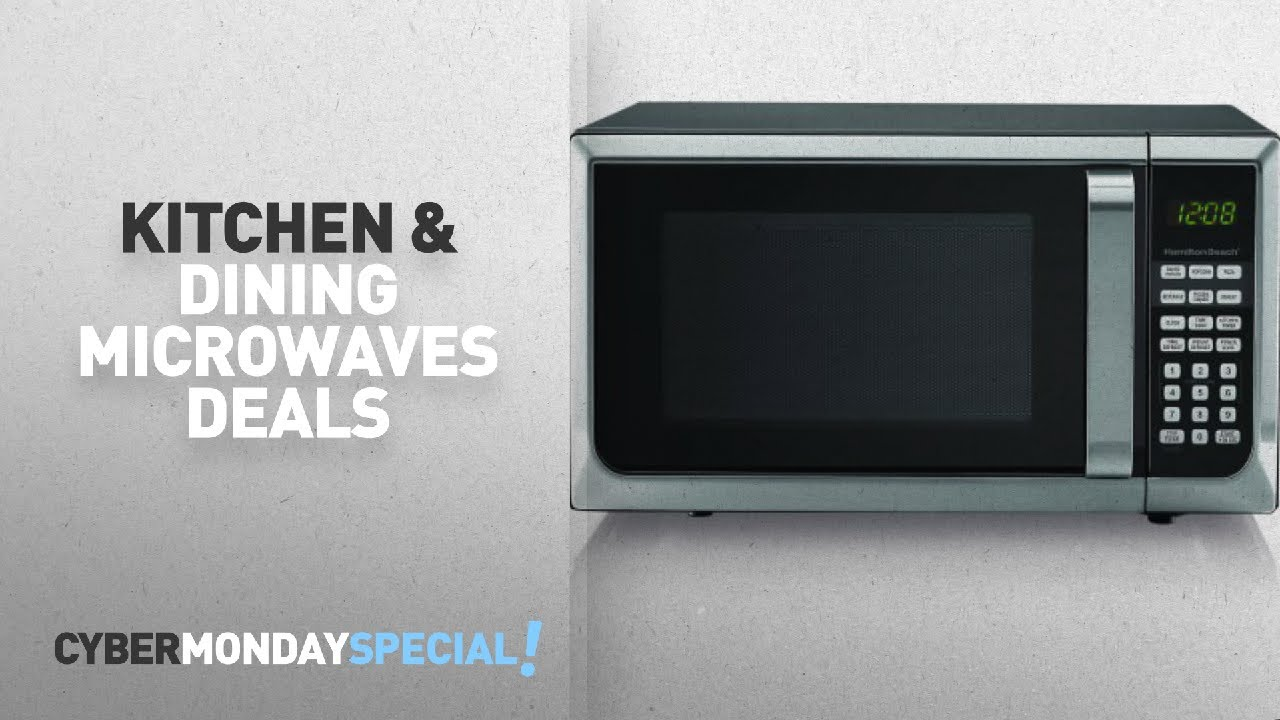 Top Cyber Monday Kitchen Dining Microwaves Deals Hamilton Beach 0 9 Cu Ft Microwave