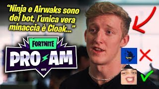 TFUE INTERVIEW DICE THAT NINJA IS A BOT IN The Fortnite Pro-Am! 😲