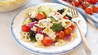 Quick and Easy Greek Pasta Salad Recipe