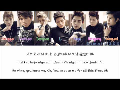 Infinite - Be Mine (내꺼 하자) [Hangul/Romanization/English] Color & Picture Coded HD