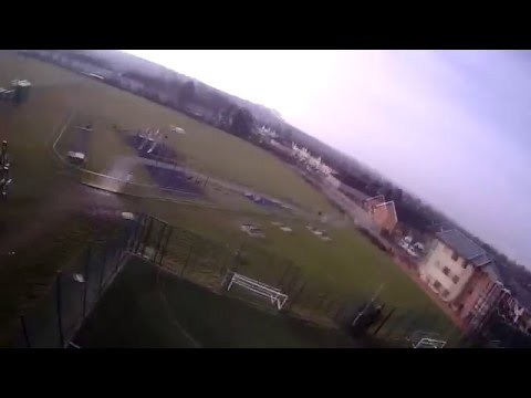 DIY 250 class racer maiden flight