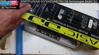 Sotituzione potenziometro cassa DB Technologies Basic DJ Riparazione fai da te