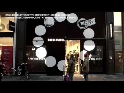 Interactive Window Projection - Interactive Store Diesel