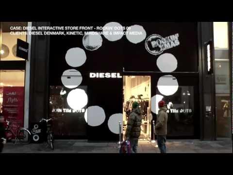 Interactive Window Projection - Interactive Store Diesel