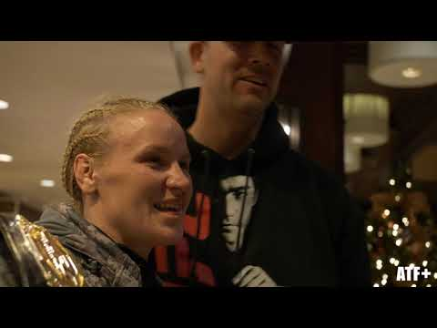 Valentina Shevchenko greets fans back at the fighter hotel - ATF+