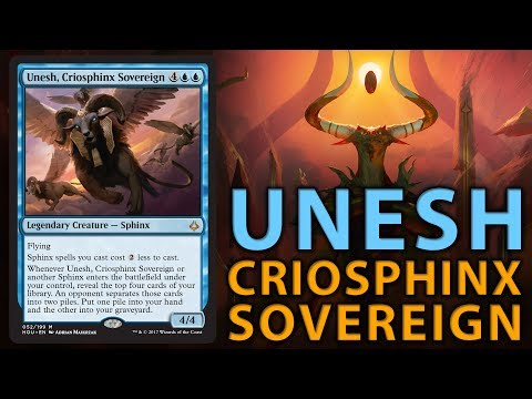 UNESH, CRIOSPHINX SOVEREIGN - Hour of Devastation Preview | The Command Zone #163 | Magic Podcast