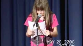 Melissa Bell Reads her Ashton Kutcher Fan Fiction - Middle school talent show