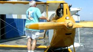 1929 DH60GM Gipsy Moth Antique Biplane Wing Folding.avi