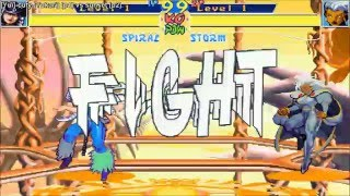 [HD] - Fightcade - Xmen Children Of The Atom - Cuty(JPN) Vs Sunset(JPN)