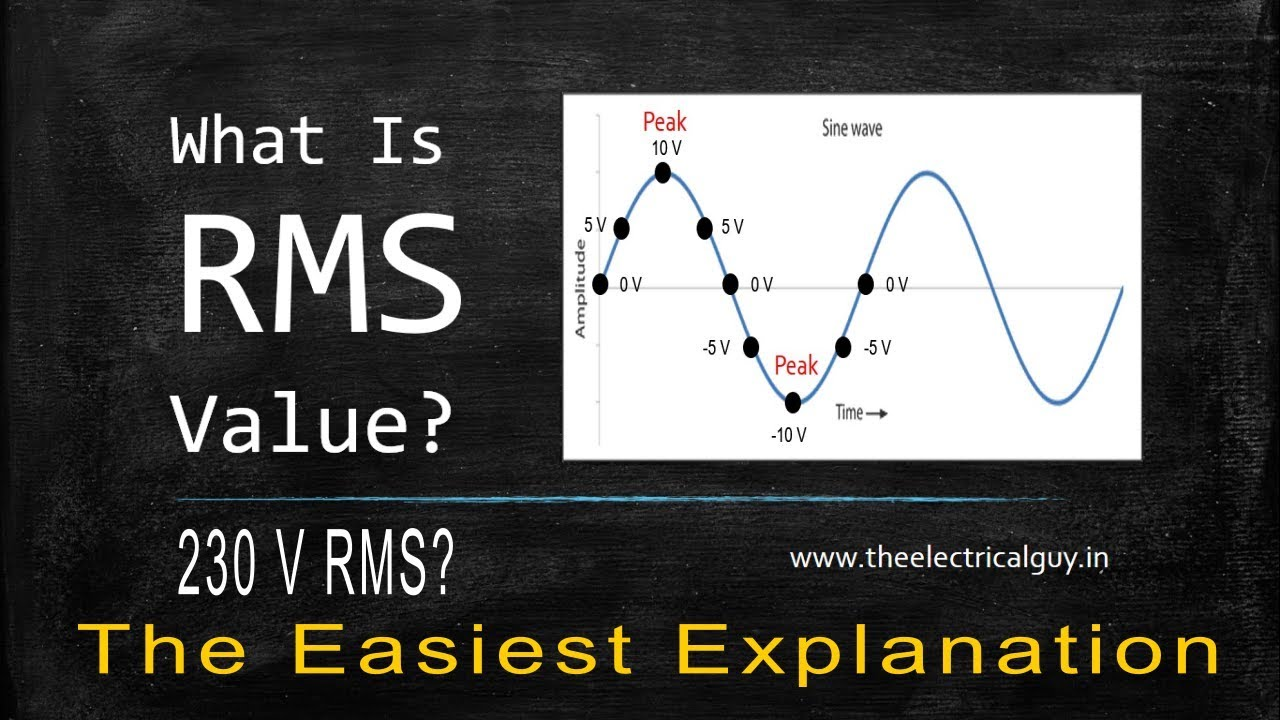 What Is Rms Value Easiest Explanation Theelectricalguy Youtube