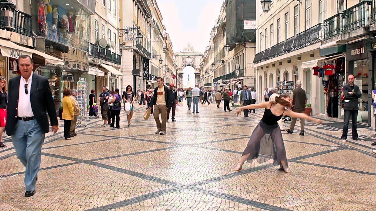 Lisbon Wallpaper Hd Ballerina Dances In The Streets Of Lisbon Youtube
