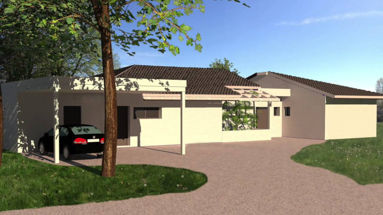 Maison contemporaine tuiles noires tarbes youtube for Architecte tarbes