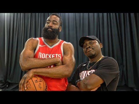 QJB vs JAMES HARDEN @ NBA LIVE 18 COVER ATHLETE PHOTOSHOOT!
