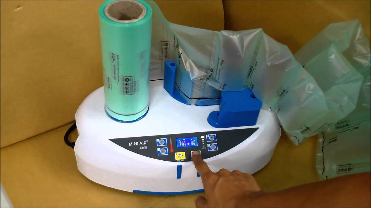 【森威緩衝包裝】迷你氣墊機 相關操作與教學說明 MINIAIR EASI - YouTube