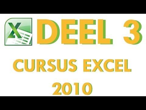 Cursus Excel 2010 Deel 3: Berekeningen uitvoeren op gegevens in Excel 2010
