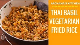 Thai Basil Pineapple Fried Rice - Thai/ Fried Rice Recipes by Archana's Kitchen