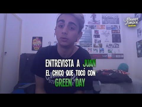 Green Day en Argentina 2017 - Entrevista a Juan (fan subido al escenario)