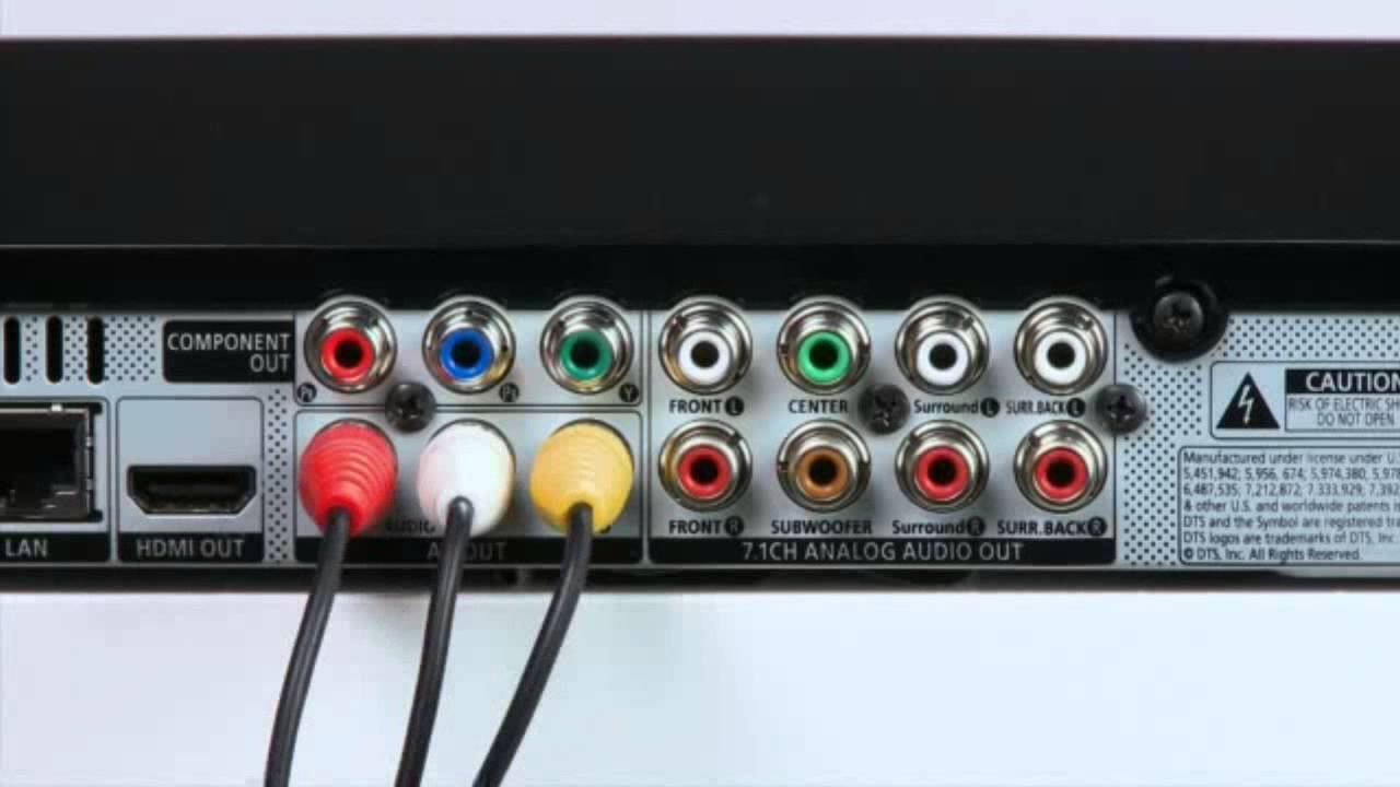 Connecting your TV using a Composite or AV cable - YouTube