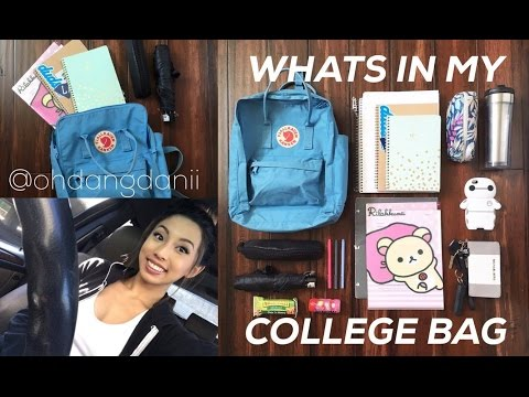 What's In My College Bag?! + Tips & Advice! // @ohdangdanii
