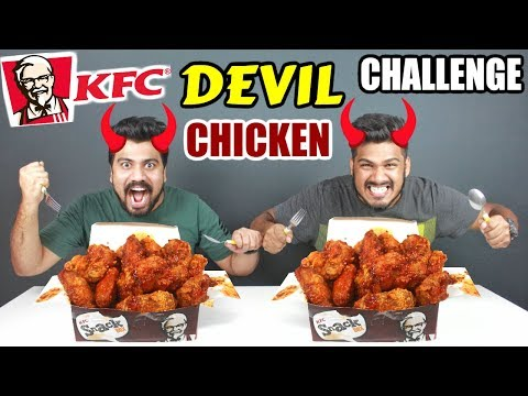 KFC DEVIL CHICKEN CHALLENGE | KFC SPICY CHICKEN EATING COMPETITION | Food Challenge India(Ep-111)