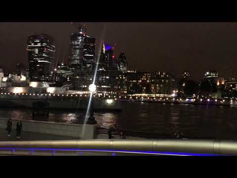 Tower Bridge Night View 28th Oct 2018 Tower of London HMS Belfast London City Hall The Queen's Walk