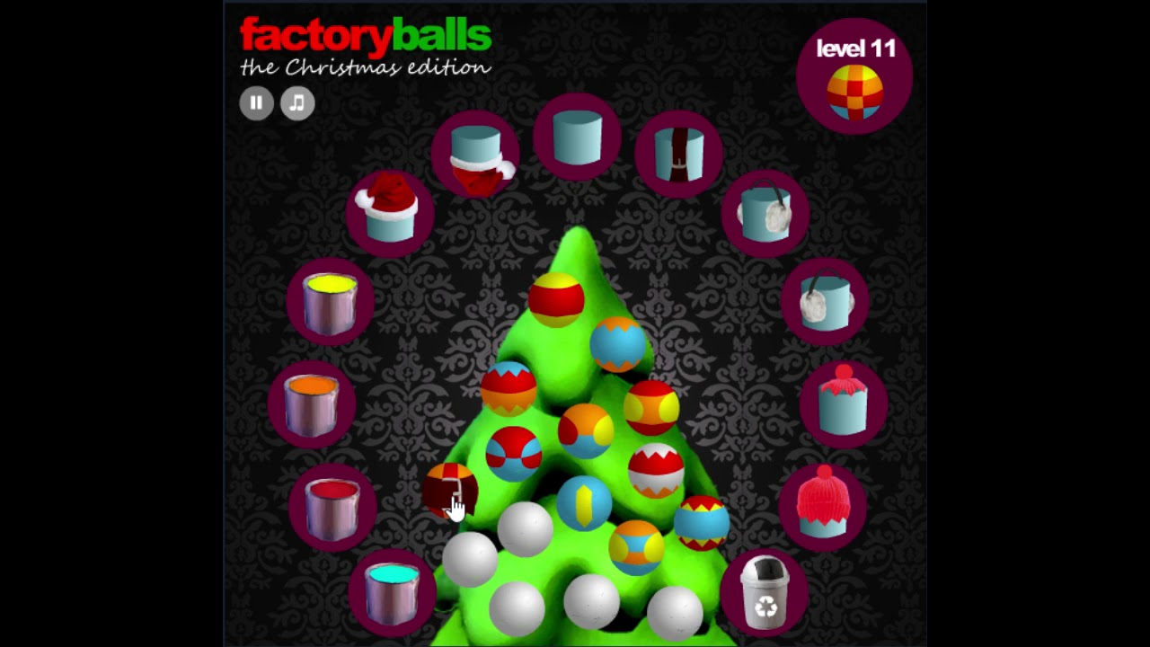 Factory balls christmas edition level 11 cool math for Cool christmas math games