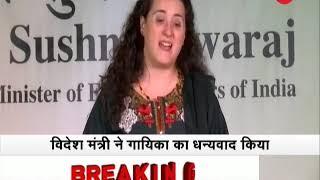 Monring Breaking: Sushma Swaraj on 3 nation visit; reaches Spain