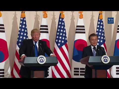 Breaking News - President Trump Participates in a Joint Press Conference with President Moon