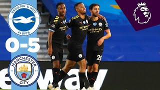HIGHLIGHTS | BRIGHTON 0-5 MAN CITY | Sterling Hat-trick, Jesus, Bernardo