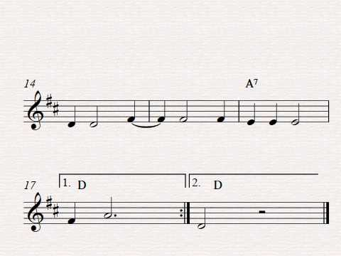 Free easy violin solo sheet music solo, Banana Man
