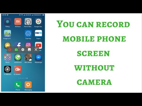 How to record mobile phone screen without camera