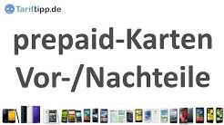 prepaid-Karten   Vor- und Nachteile von prepaid-Tarifen
