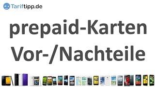 prepaid-Karten | Vor- und Nachteile von prepaid-Tarifen