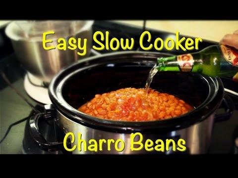 My EASY Crockpot Charro Beans Recipe-  Vlog 88