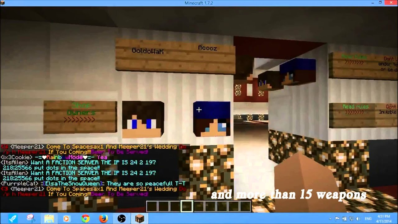 minecraft how to get heads on servers