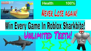 Win Every Game Sharkbite (roblox)! Never get hit by a shark again!! Glitch!! Unlimited shark teeth!!