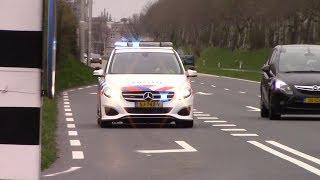 PRIO 1 Politie met spoed door Middelburg naar onbekende melding in Walcheren